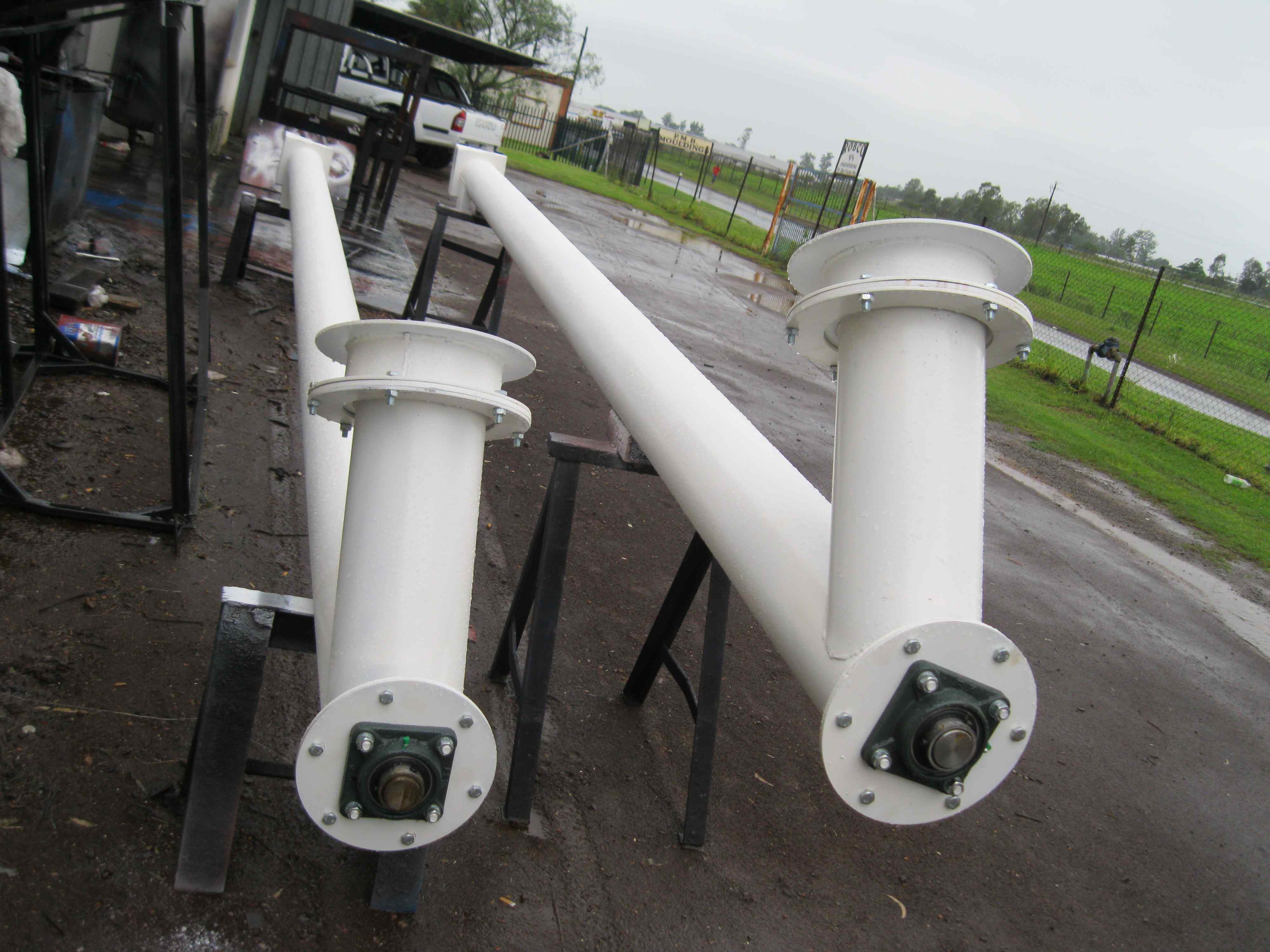twin auger cone products drive conveyors feeders bottoms bottom screw live feeder stainless no